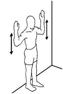 Wall angels for Slipped rib syndrome