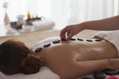 Hot ebony massage